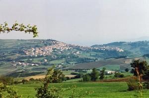 Casacalenda panorama, vista da Cerrosecco